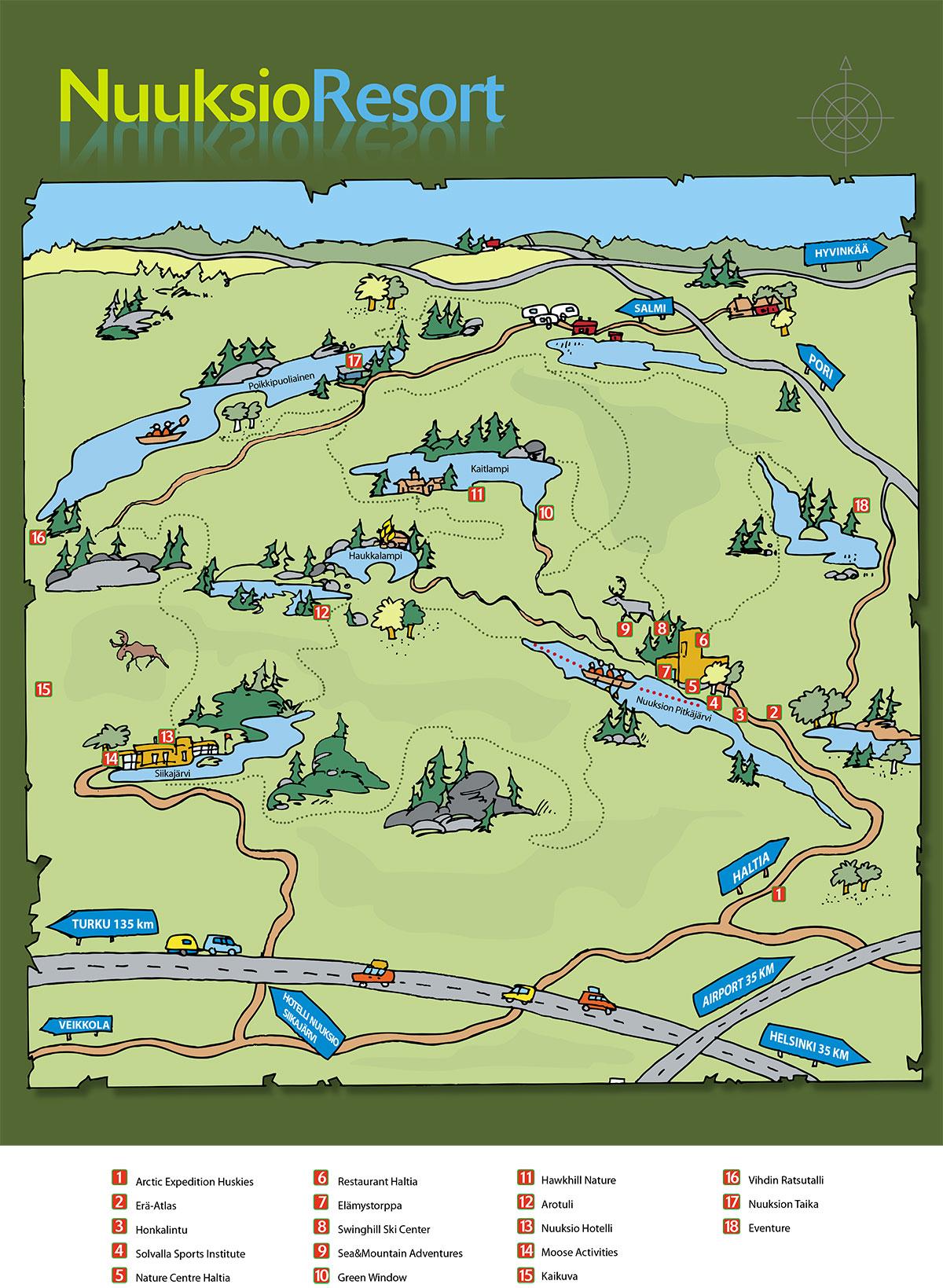 Linkit >> nuuksion-kartta-2017 - Nuuksio Resort